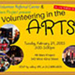 Image advertising LYP event Volunteering in the Arts 2015, New York City