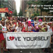 Image advertising LYP event at New York City Pride Parade 2016